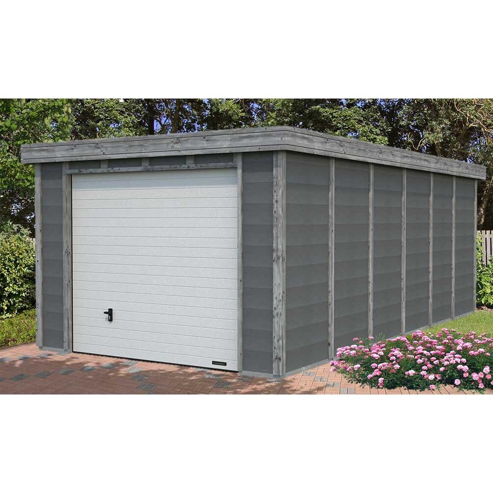 Garage Toit Plat Structure Bois Béton ELYA M² Intérieur - Garage beton toit plat