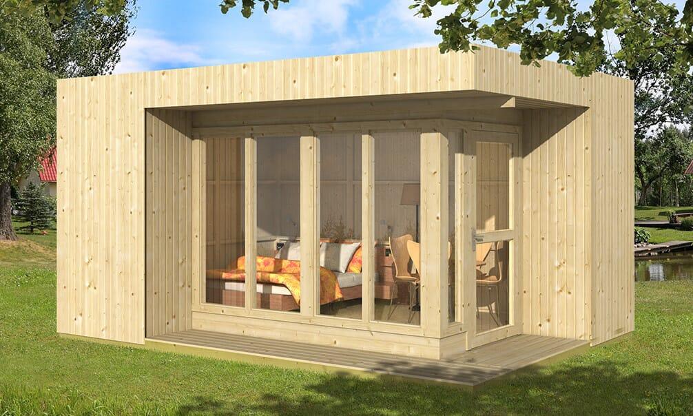 Bureau de jardin tim panneaux bois m² extérieur