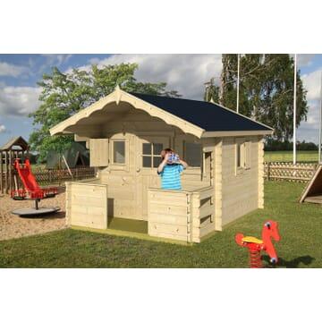 cabane enfants une maisonnette en bois pour le jardin tous chalets. Black Bedroom Furniture Sets. Home Design Ideas