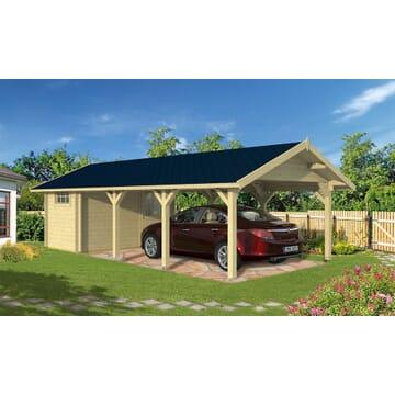 garage et carport en bois toit plat ou en pente tous. Black Bedroom Furniture Sets. Home Design Ideas